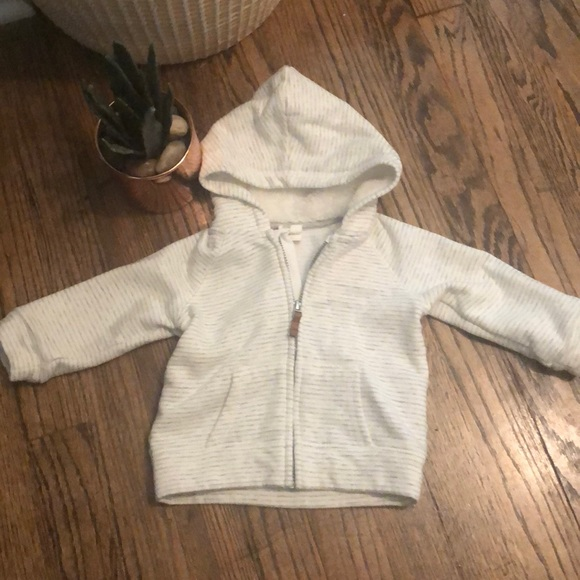 H&M Other - Gray and White Stripe Hoodie